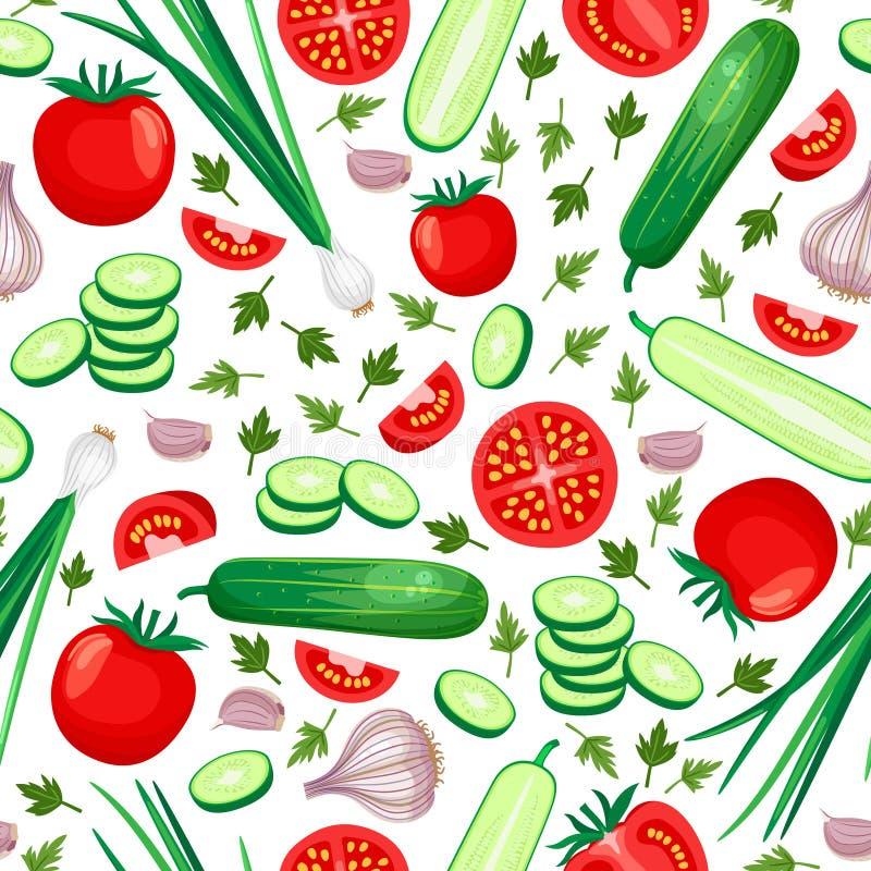 Fundo saudável do alimento ilustração royalty free