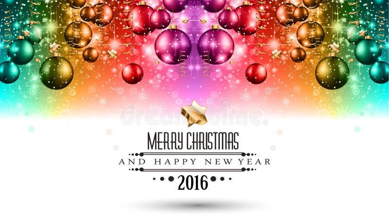 Fundo sazonal do Feliz Natal para seus cartões ilustração do vetor