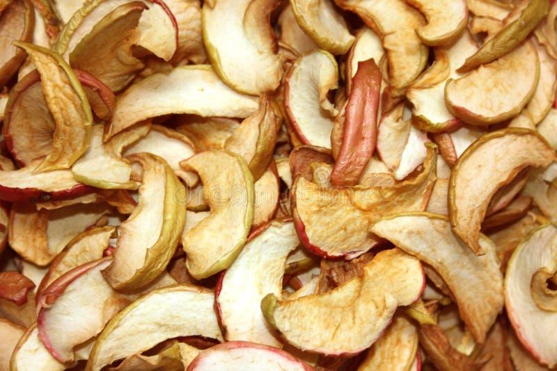 Fundo secado das maçãs foto de stock