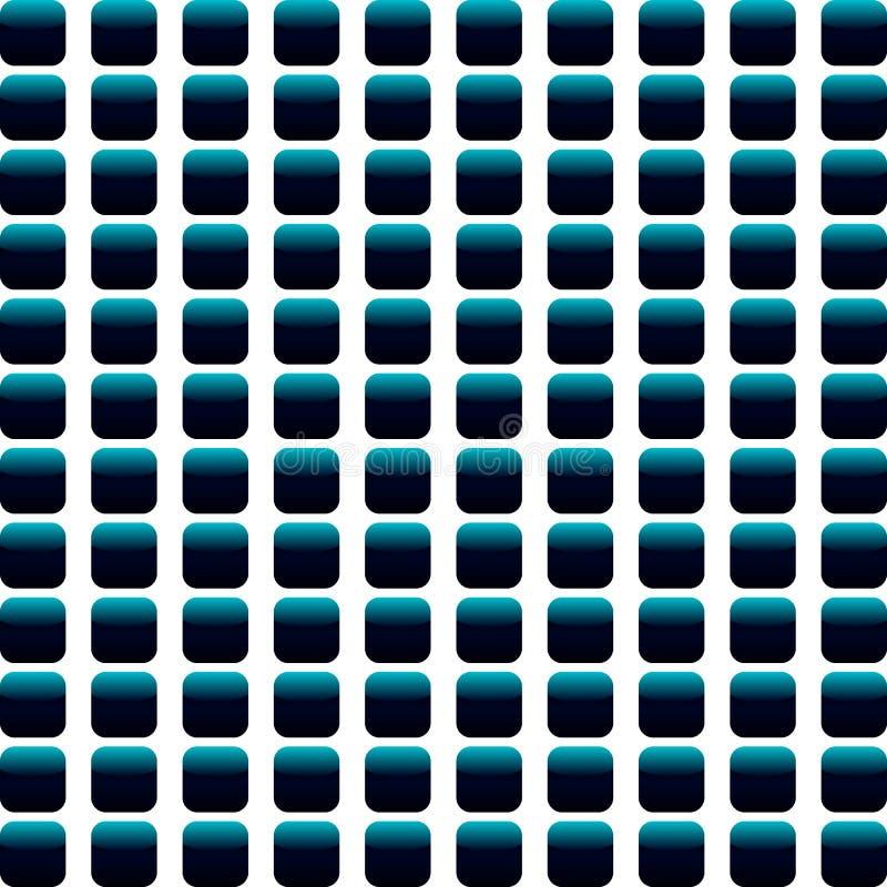 Fundo sem emenda abstrato azul e preto do mosaico ilustração stock