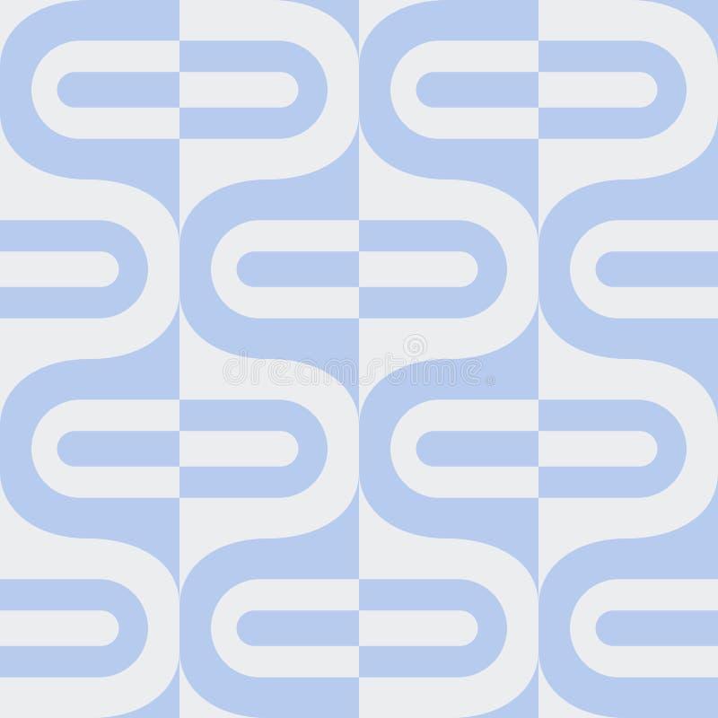 Fundo sem emenda abstrato do contraste com formulários geométricos diferentes ilustração do vetor