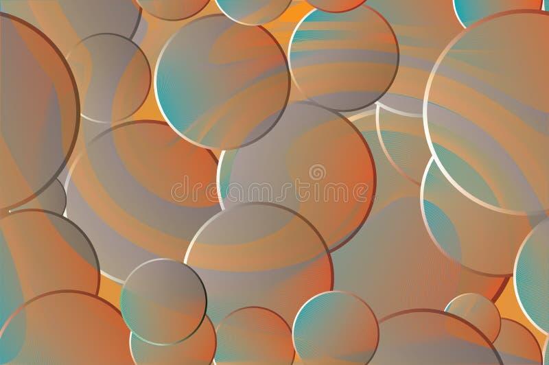 Fundo sem emenda abstrato Esferas coloridas com um inclinação e um halo luminoso ilustração stock