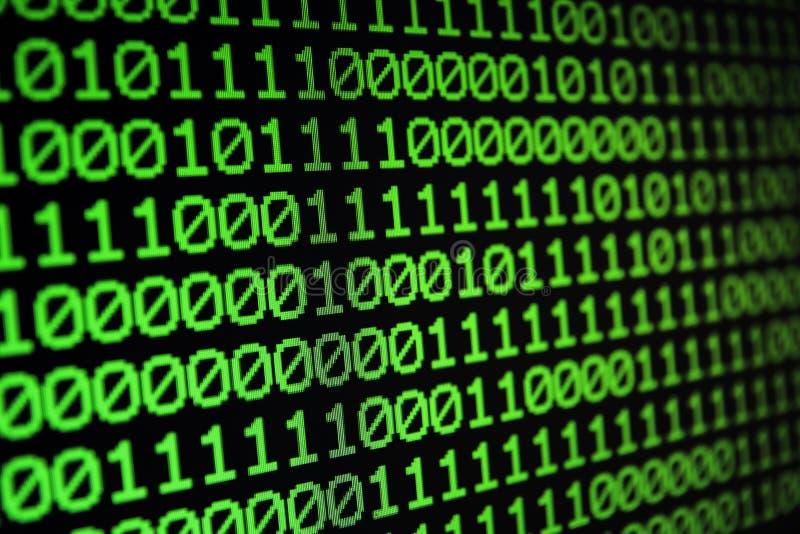 Fundo sem emenda binário do código de computador da matriz Bacalhau binário foto de stock royalty free