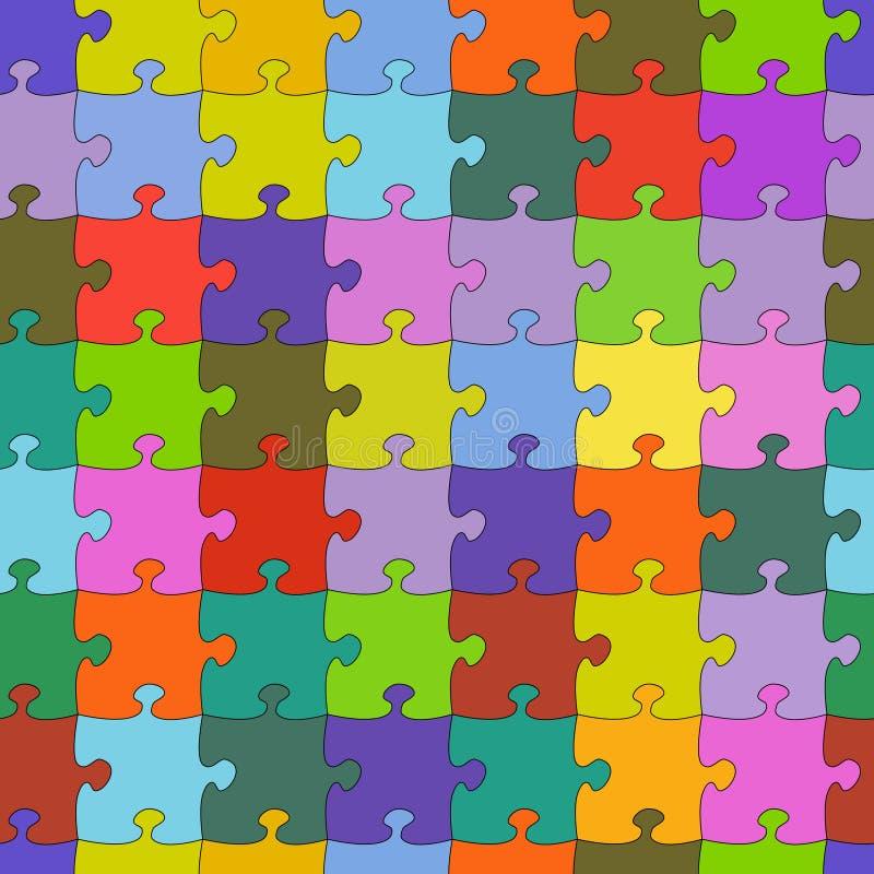 Fundo sem emenda colorido aleatório do vetor da serra de vaivém do enigma ilustração do vetor
