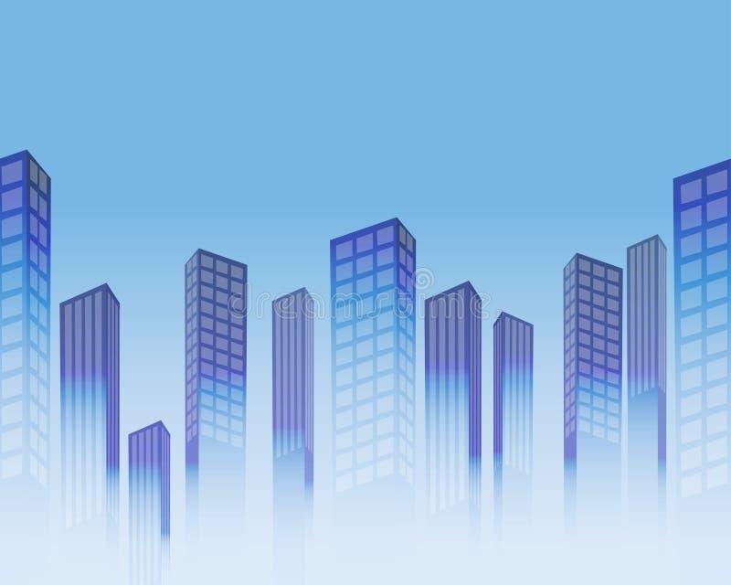 Fundo sem emenda com arranha-céus estilizados ilustração royalty free