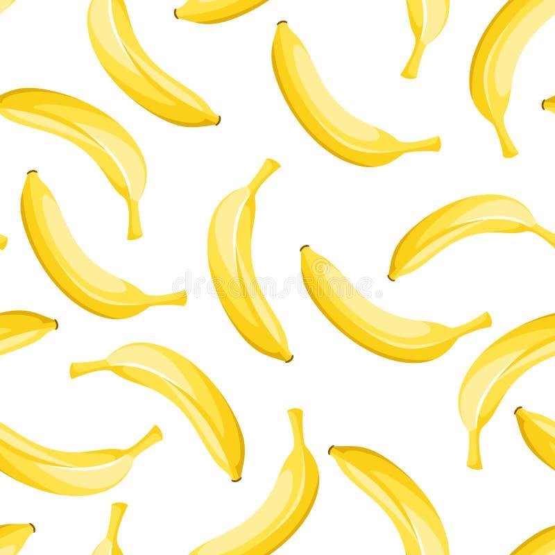 Fundo sem emenda com bananas amarelas. ilustração stock