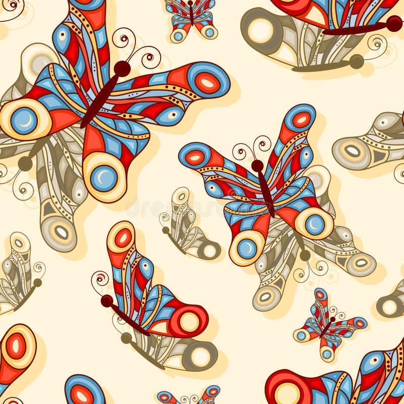 fundo sem emenda com borboletas ilustração royalty free
