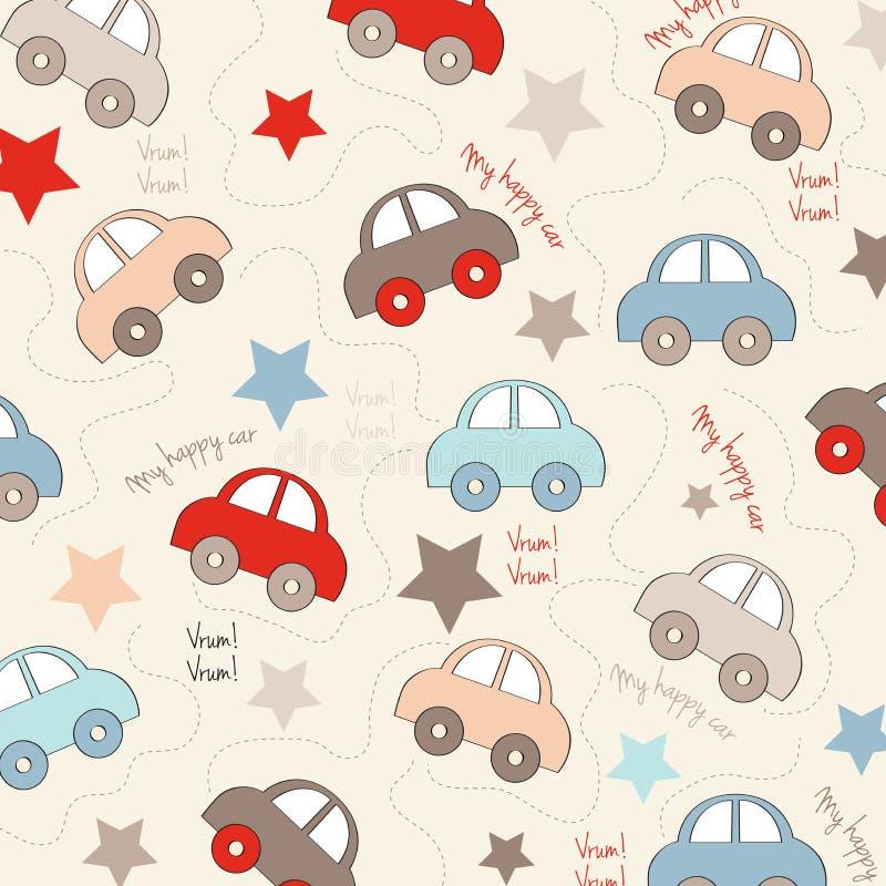 Fundo sem emenda com carros ilustração do vetor