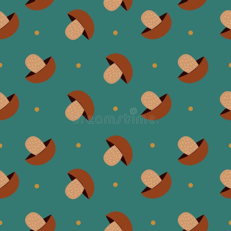 Fundo sem emenda com cogumelos imagens de stock royalty free