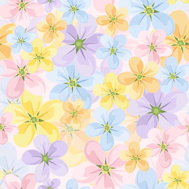 Fundo sem emenda com flores coloridas. ilustração stock