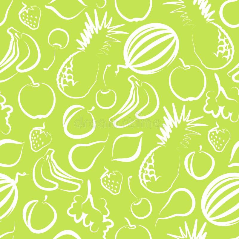 Fundo sem emenda com fruta ilustração do vetor