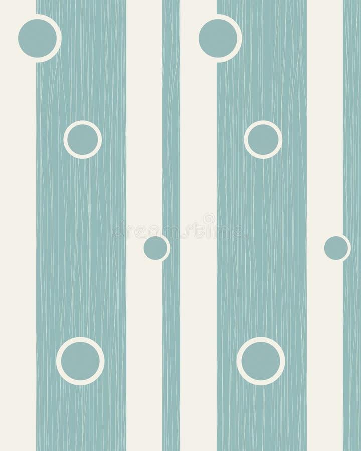 Fundo sem emenda com linhas azuis e curvas ilustração royalty free