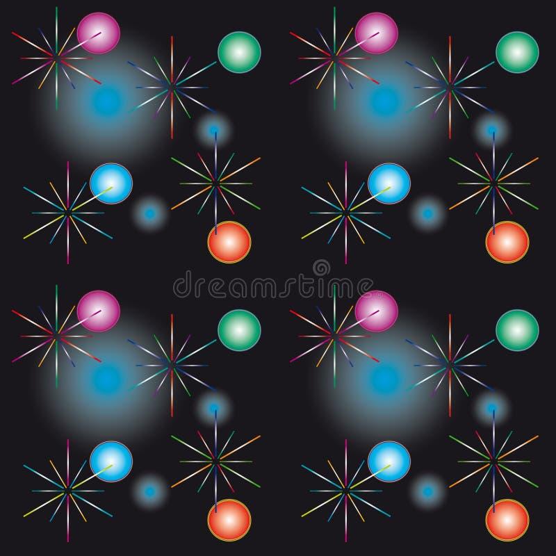 Fundo sem emenda com luzes festivas ilustração stock
