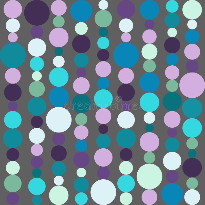 Fundo sem emenda com os grânulos feitos dos círculos e das bolhas Corda com bolas Ilustração do vetor ilustração royalty free