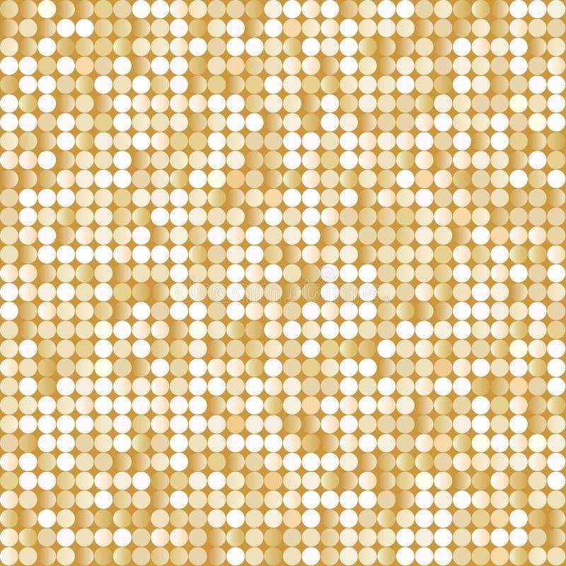 Fundo sem emenda com os paillettes dourados brilhantes ilustração do vetor