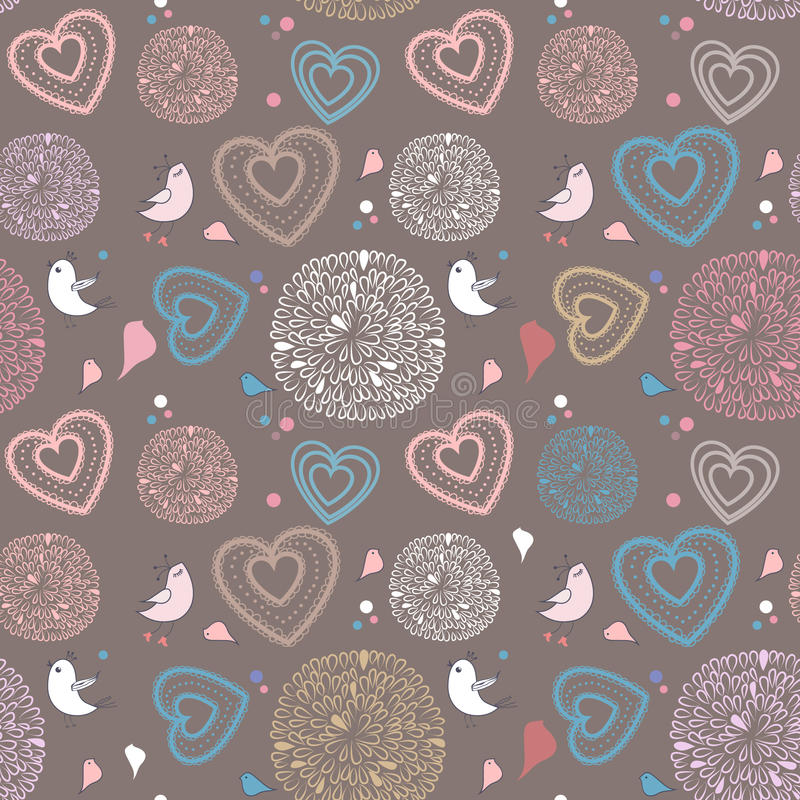 Download Fundo Sem Emenda Com Pássaros Ilustração Stock - Ilustração de decoração, cute: 16860400