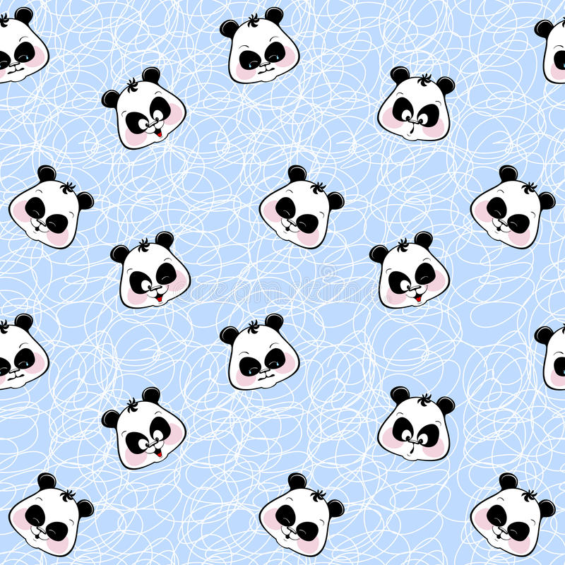 Fundo sem emenda com panda dos focinhos ilustração stock