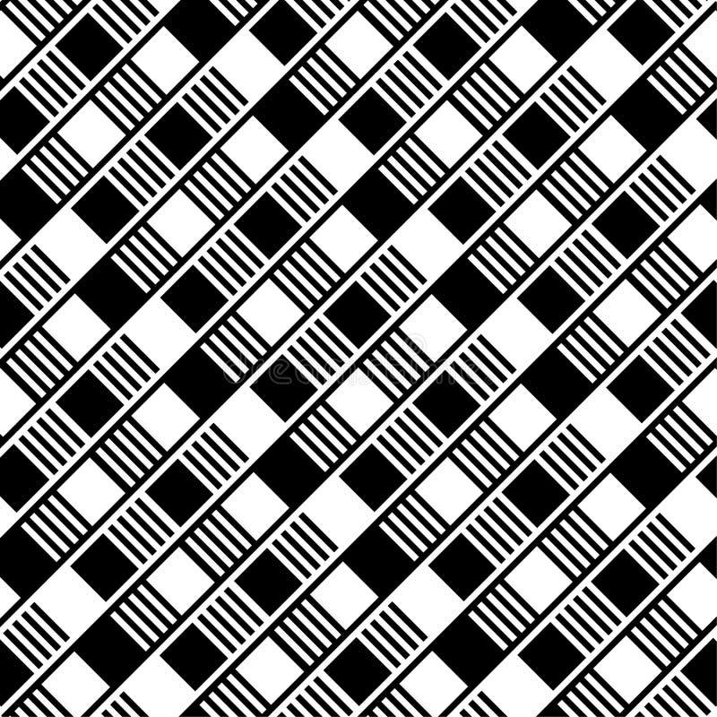 Fundo sem emenda com quadrados preto e branco ilustração stock