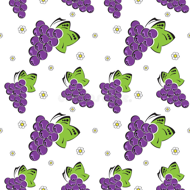 Download Fundo sem emenda com uvas ilustração do vetor. Ilustração de alaranjado - 26500261