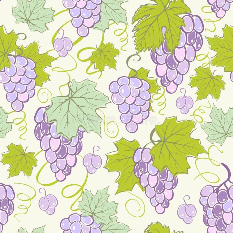 Fundo sem emenda creativo da uva. ilustração do vetor