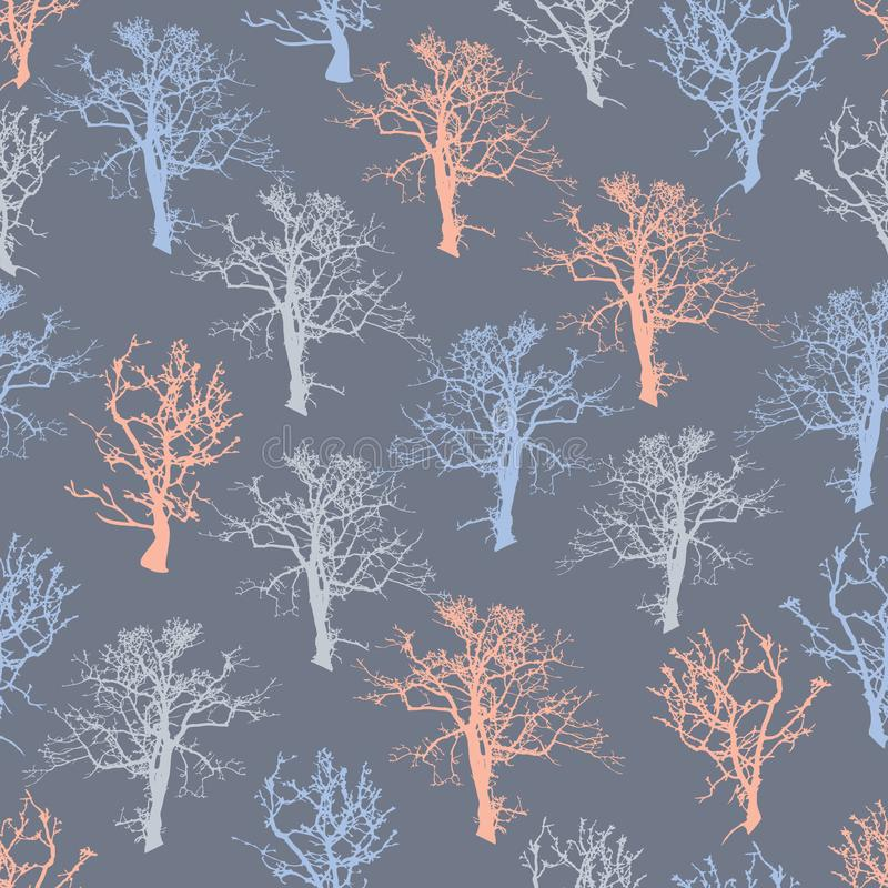 Fundo sem emenda da árvore de floresta da ilustração ilustração stock