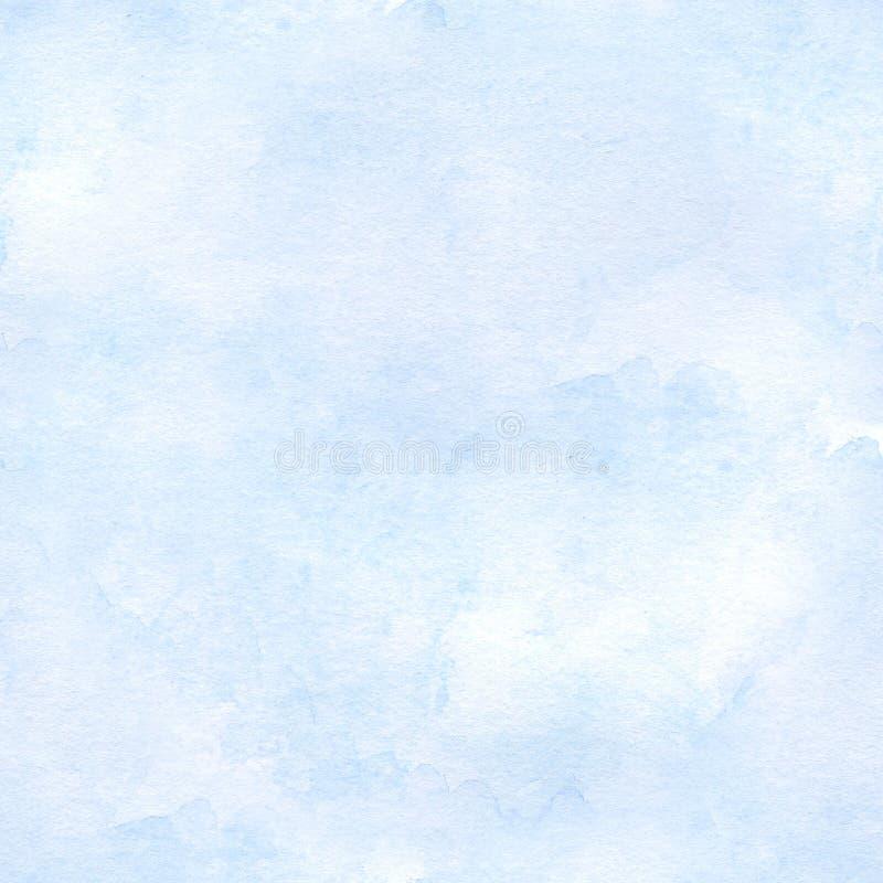 Fundo sem emenda da aquarela dos azul-céu Mão desenhada ilustração royalty free