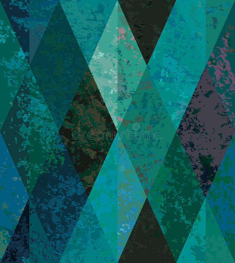 Fundo sem emenda da esmeralda. mosaico diamond-shaped ilustração stock
