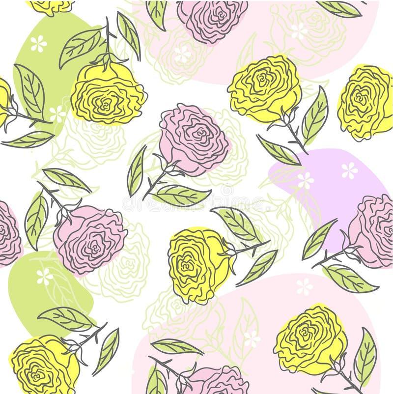 Fundo sem emenda da flor ilustração stock