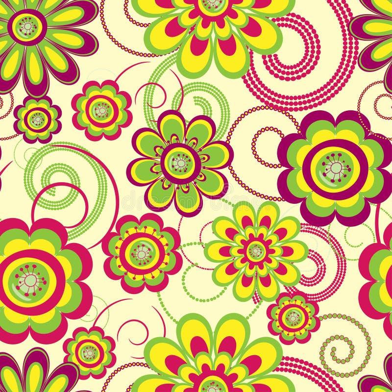Fundo sem emenda da flor ilustração royalty free
