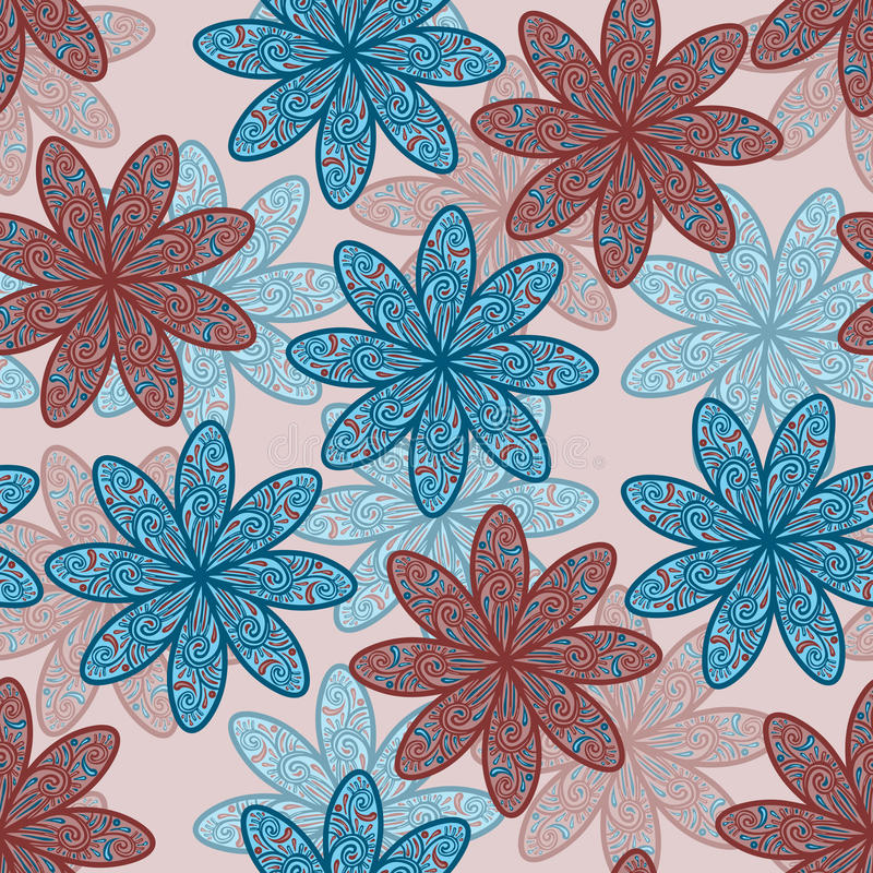 fundo sem emenda da flor ilustração do vetor
