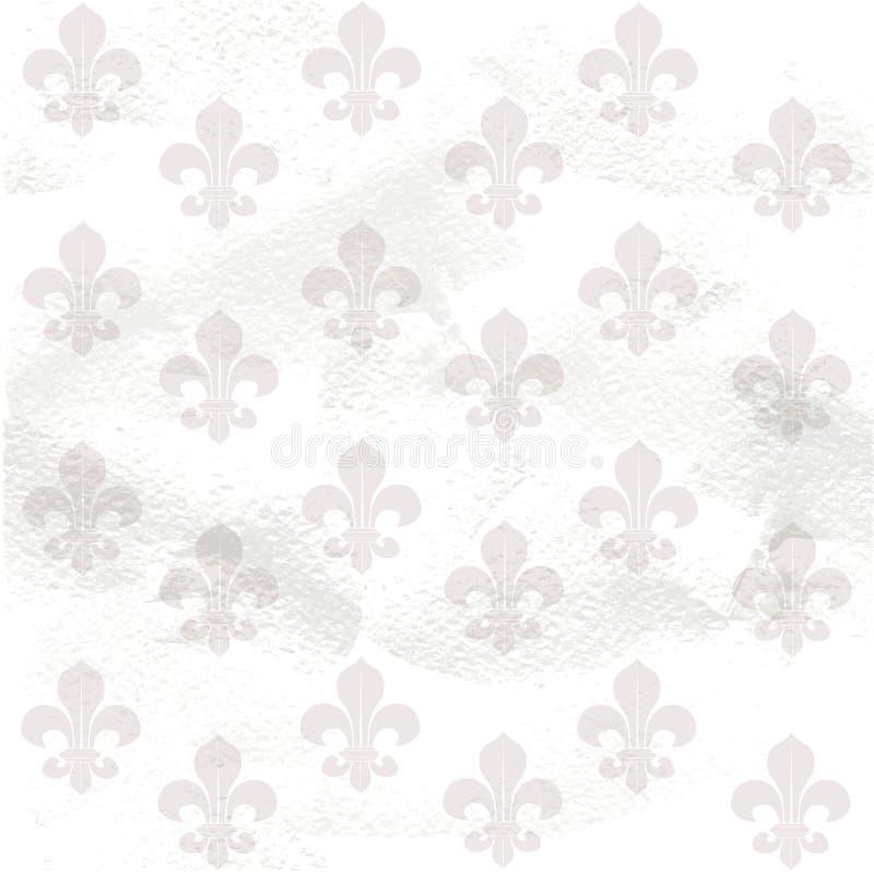 Fundo sem emenda da flor de lis no papel da granja ilustração royalty free