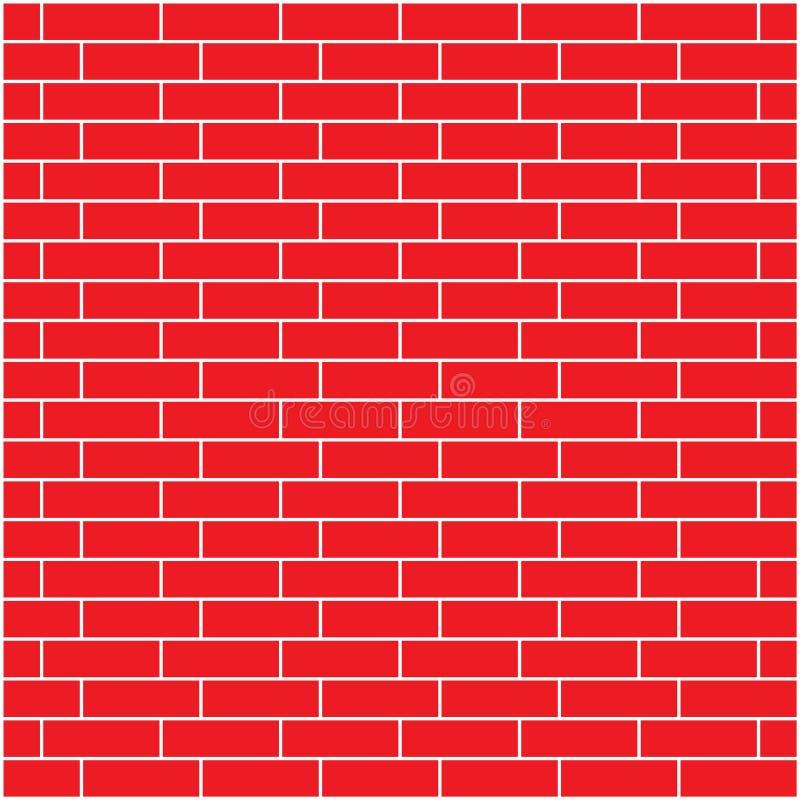 Fundo sem emenda da ilustração do vetor da parede de tijolo vermelho - texture o teste padrão para o replicate contínuo ilustração royalty free