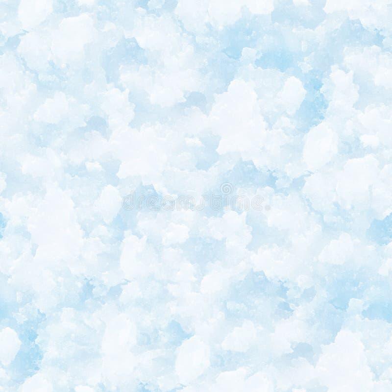 Fundo sem emenda da neve. ilustração do vetor