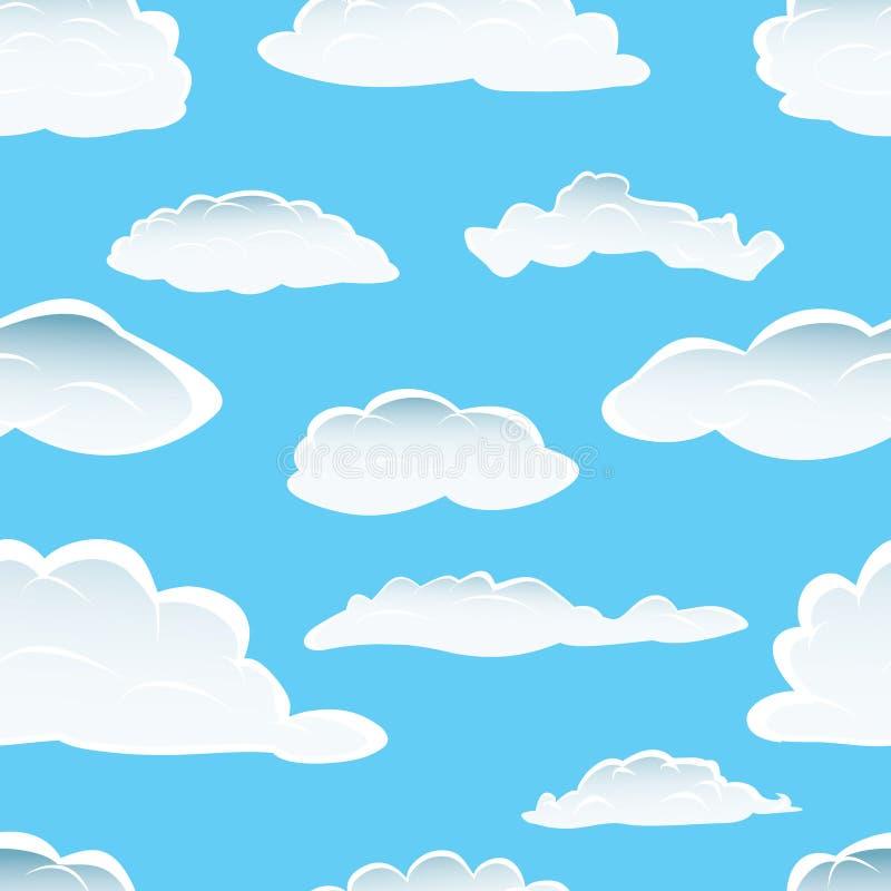 Fundo sem emenda da nuvem ilustração royalty free