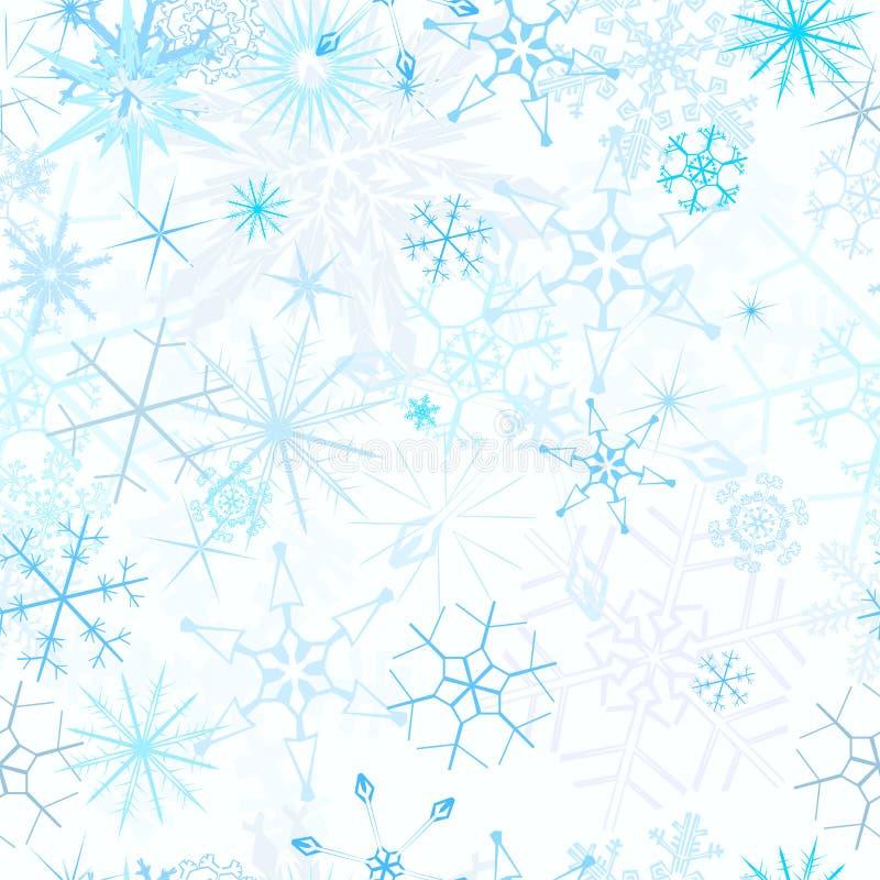 Fundo sem emenda da queda de neve ilustração do vetor