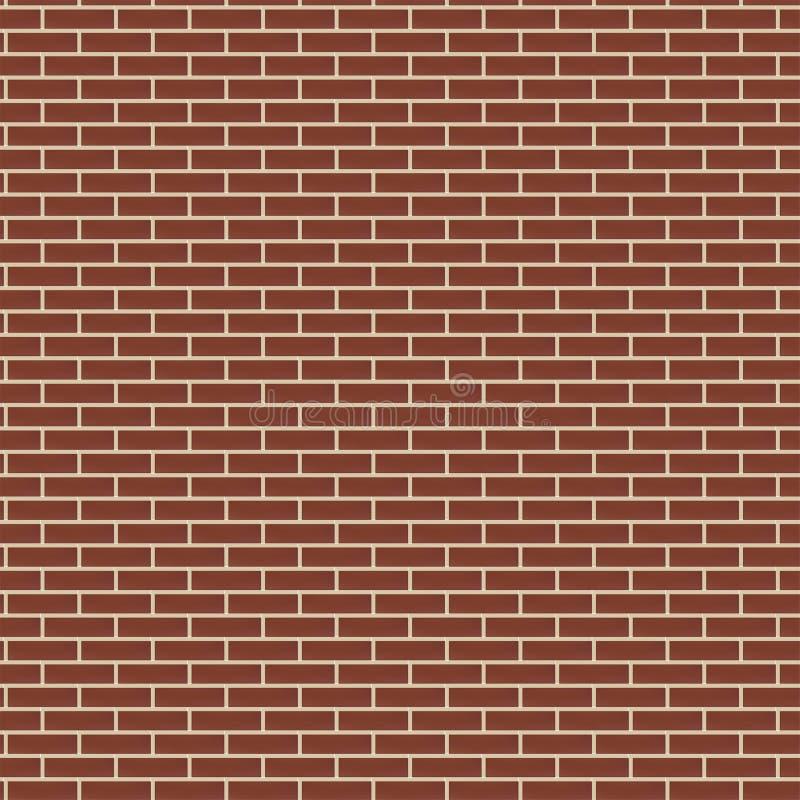 Fundo sem emenda da textura da parede de tijolo vermelho, ilustração marrom do vetor da alvenaria da cor ilustração stock
