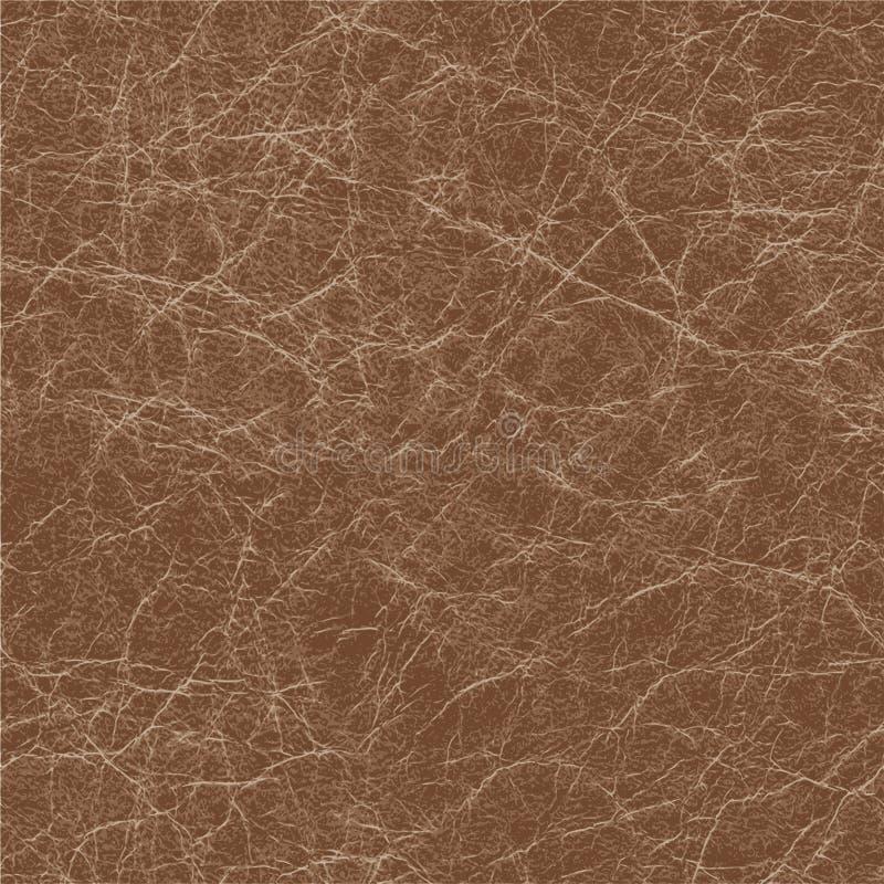 Fundo sem emenda da textura de couro marrom ilustração do vetor