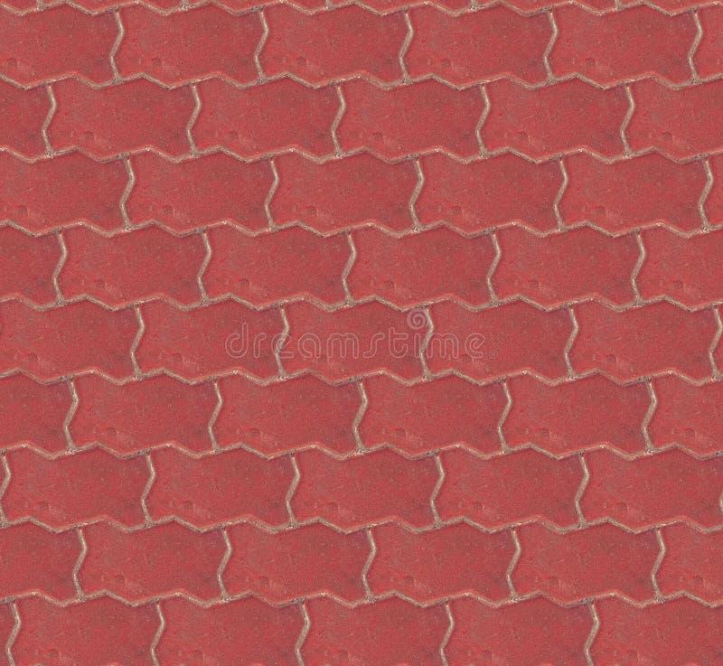 Fundo sem emenda da textura do pavimento do tijolo vermelho Projeto sem emenda do fundo foto de stock