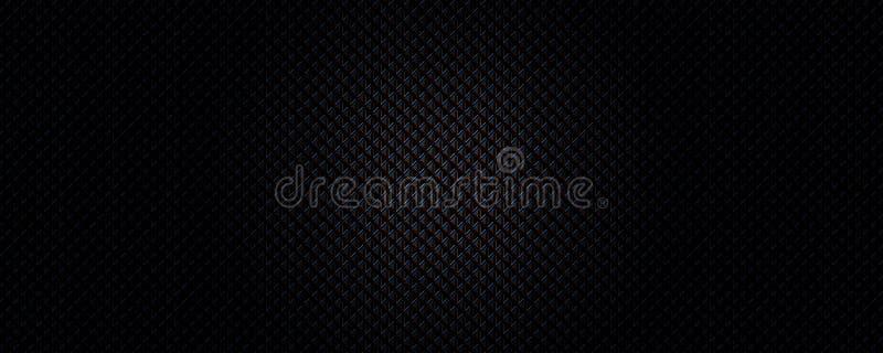 Fundo sem emenda da textura do preto do triângulo ilustração stock