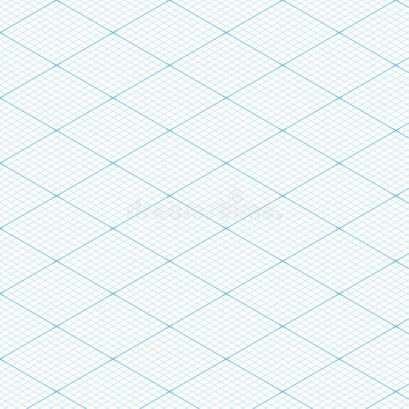 Fundo sem emenda da textura do teste padrão da grade isométrica branca do modelo Ilustração do vetor ilustração do vetor