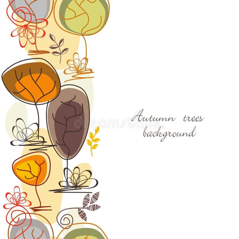 Fundo sem emenda das árvores outonais ilustração stock