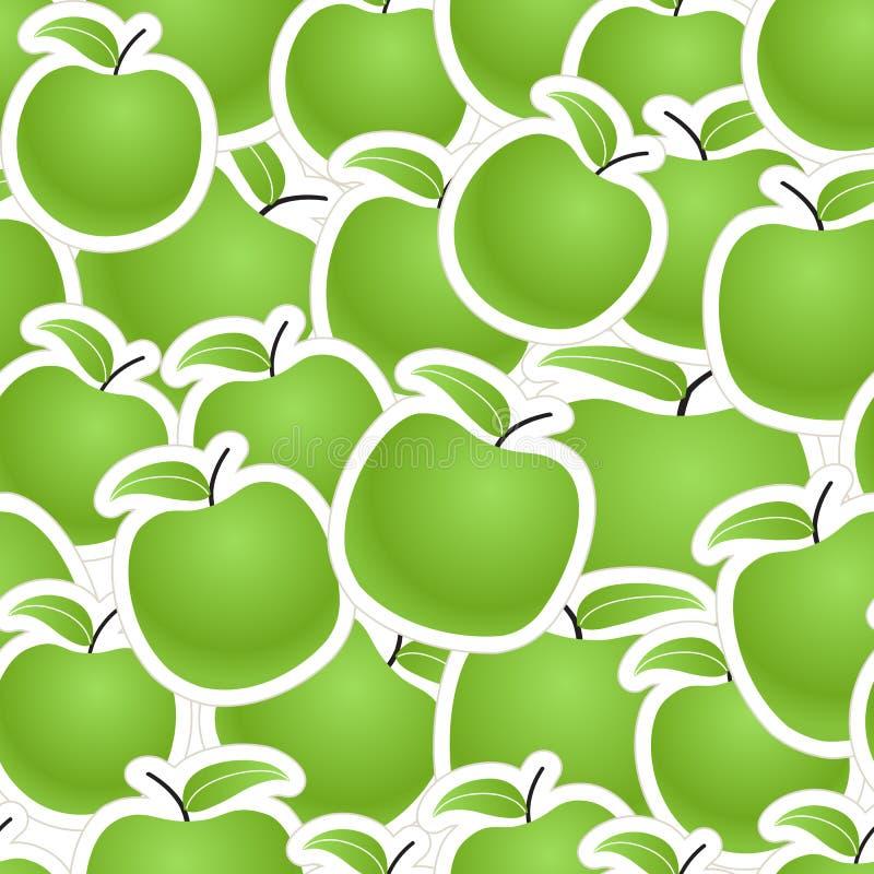 Fundo sem emenda das maçãs verdes ilustração royalty free