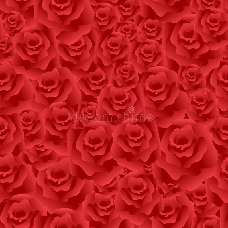 Fundo sem emenda das rosas ilustração stock