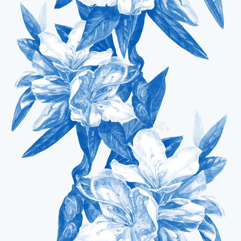 Fundo sem emenda de azáleas das flores fotografia de stock