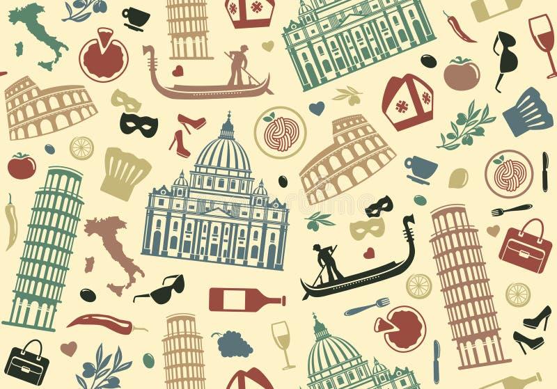 Fundo sem emenda de Italia ilustração royalty free