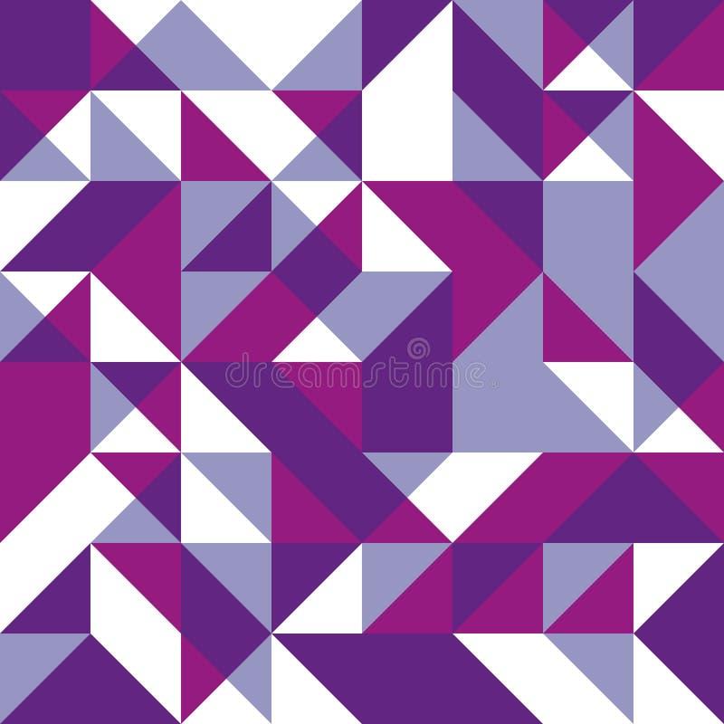 Fundo sem emenda de Lila com formas geométricas ilustração royalty free