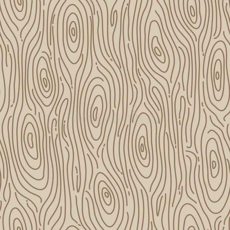 Fundo sem emenda de madeira retro. Ilustração do vetor ilustração stock