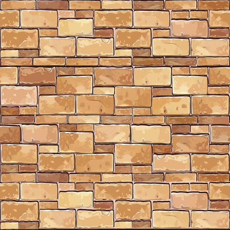 Fundo sem emenda de pedra da parede de tijolo. ilustração do vetor