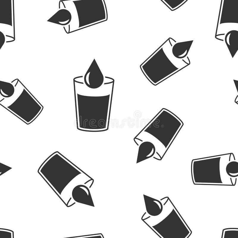 Fundo sem emenda de vidro do teste padrão do ícone da água Ilustração de vidro do vetor da soda Teste padrão líquido do símbolo d ilustração stock