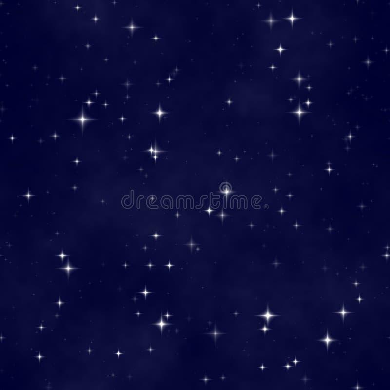 Fundo sem emenda do céu nocturno ilustração royalty free